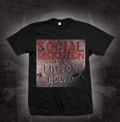 Social Distortion- Prison Bound on a black YOUTH sized shirt