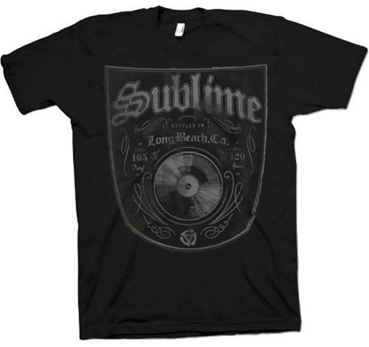 Sublime- Bottled In LBC on a black ringspun cotton shirt