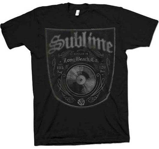 Sublime- Bottled In LBC on a black ringspun cotton shirt