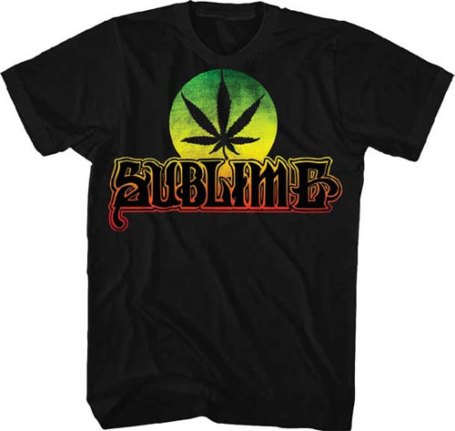 Sublime- Pot Leaf on a black ringspun cotton shirt