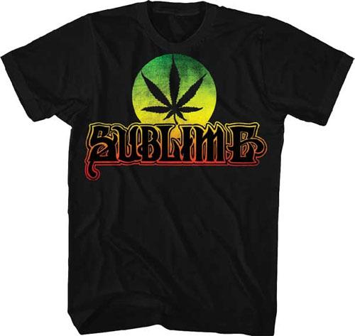 Sublime- Pot Leaf on a black ringspun cotton shirt