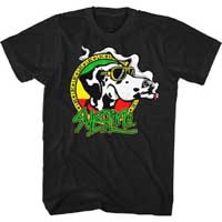Sublime- Smoking Dog on a black ringspun cotton shirt