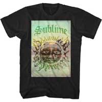 Sublime- Cityscape Sun on a black ringspun cotton shirt