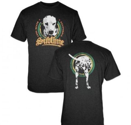 Sublime- Lou Dog on front & back on a black shirt