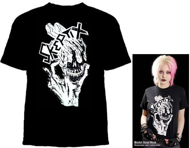 Skeptix- Skull & Hand on a black shirt (Sale price!)