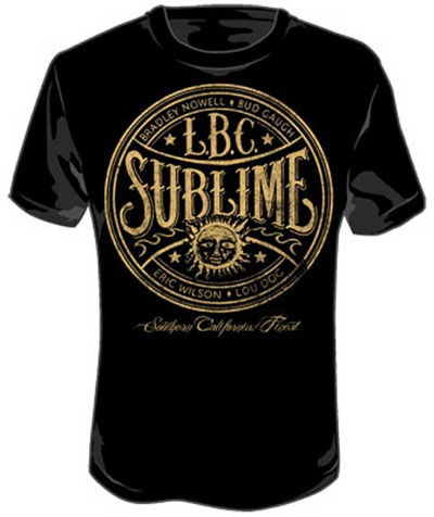 Sublime- LBC Label on a black shirt (Sale price!)