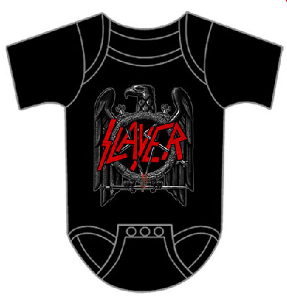Slayer- Eagle on a black onesie (S:0-6m, M:6-12m, L:12-18m, XL:18-24m)