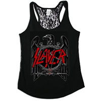 Slayer- Eagle on a black lace back girls tank shirt