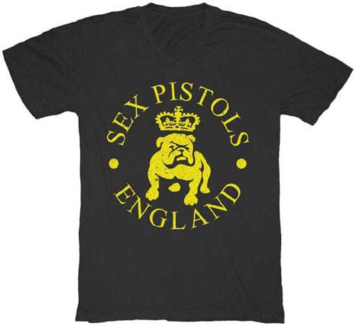 Sex Pistols- England (Bulldog) on a black shirt