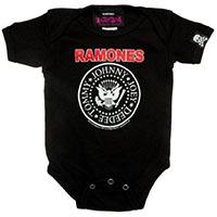 Ramones- Presidental Logo (Red Logo) on black onesie (S:0-3m, M:3-6m, L:6-12m, XL:12-18m)