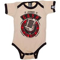 Johnny Cash Daddy Sang Bass one piece snap bottom baby shirt (S=0-3 mo, M=3-6 mo, L=6-12 mo, XL=12-18 mo)