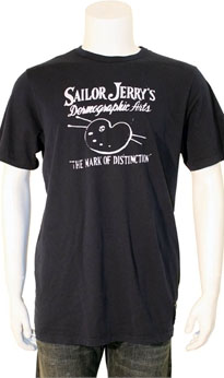 Sailor Jerry- Dermographic Arts on a Navy Slim Fit Guys Shirt - SALE sz 2X only