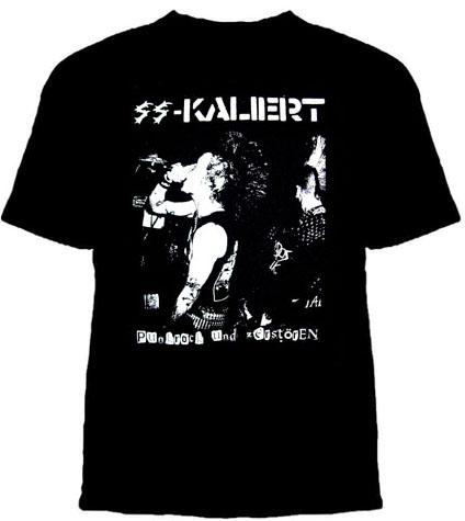 SS Kaliert- Punkrock Und Zerstoren on a black YOUTH SIZED shirt (Sale price!)