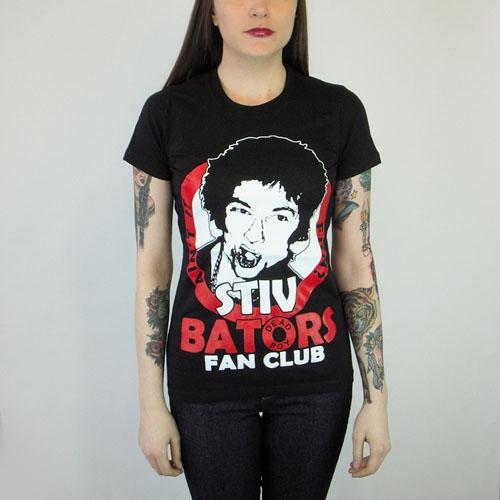 Stiv Bators- Fan Club on a black girls fitted shirt (Sale price!)
