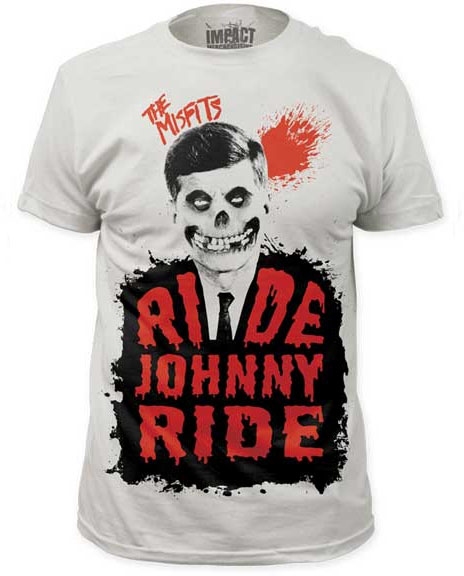 Misfits- Ride Johnny Ride Subway Print on a vintage white ringspun cotton shirt