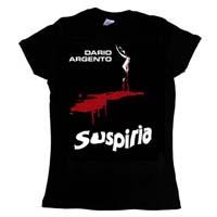 Suspiria- Blood on a black girls fitted shirt (Sale price!)