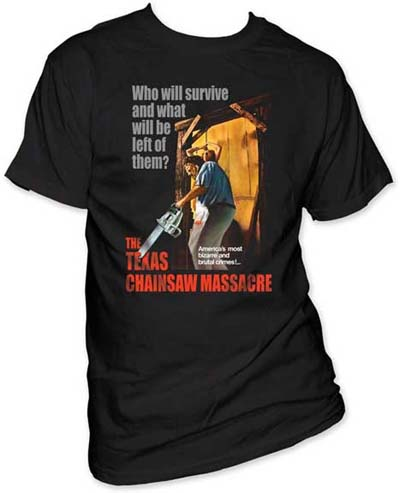 Texas Chainsaw Massacre- Who Will Survive And What Will Be Left Of Them? on a black shirt