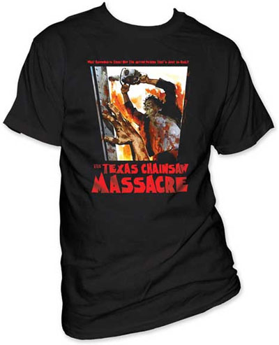 Texas Chainsaw Massacre- What Happened Is True! on a black shirt