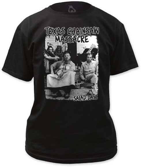 Texas Chainsaw Massacre- Salad Days on a black shirt (Minor Threat)