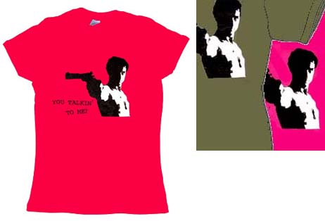 Taxi Driver- You Talkin' To Me? girls fitted shirt