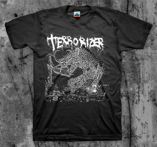 Terrorizer- 1987 (Creature) on a black YOUTH sized shirt