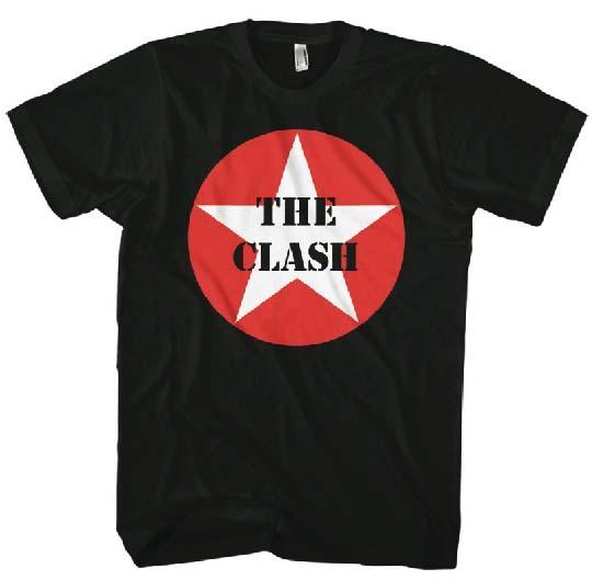 Clash- Star Logo on a black shirt