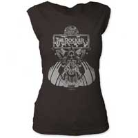 Thin Lizzy- The Rocker on a vintage black girls cap sleeve shirt (Sale price!)
