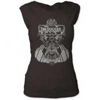 Thin Lizzy- The Rocker on a vintage black girls cap sleeve shirt (Sale price!)