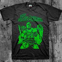 Toxic Avenger- Green Pic on a black shirt