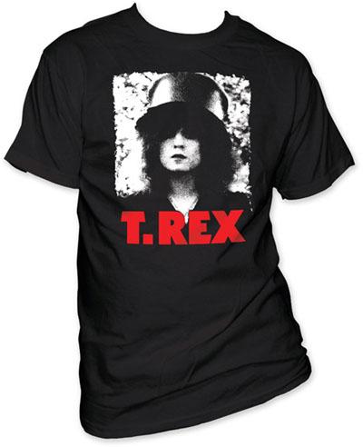 T Rex- The Slider on a black shirt