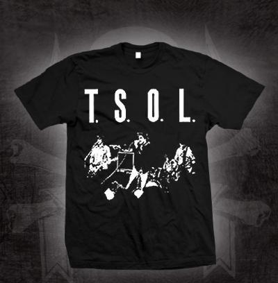 TSOL- Live on a black shirt (Sale price!)