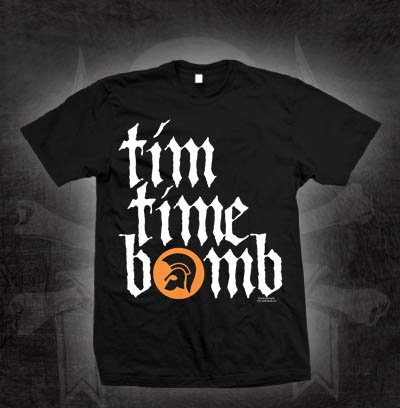 Tim Timebomb- Trojan Logo on a black shirt (Sale price!)