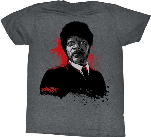 Pulp Fiction- Jules on a heather grey tri-blend slim fit shirt (Sale price!)