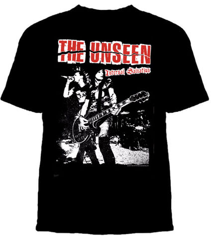 Unseen- Internal Salvation (Mark & Scott Live) on a black shirt (Sale price!)