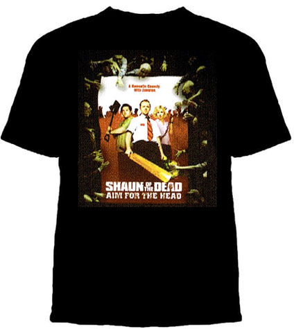 Shaun Of The Dead- Aim For The Head a black shirt (Sale price!)
