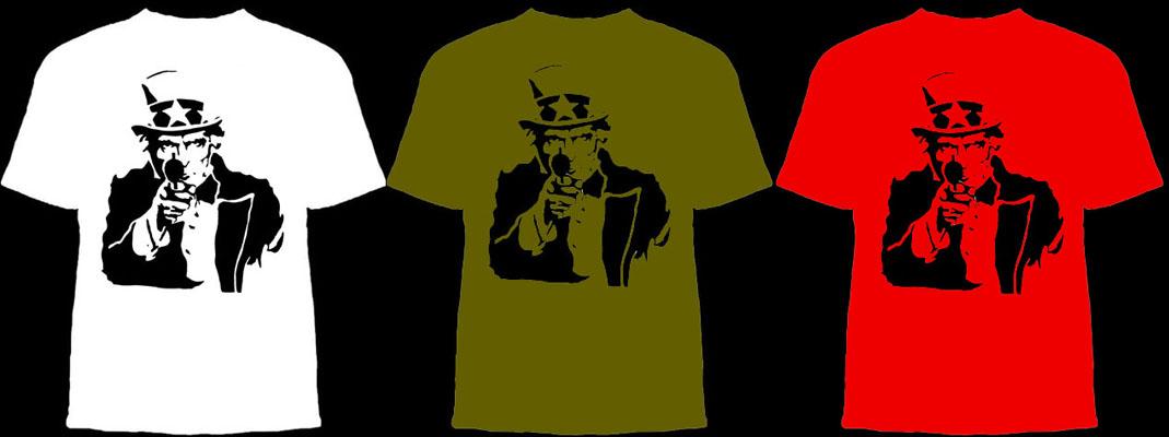 Uncle Sam With Gun shirt
