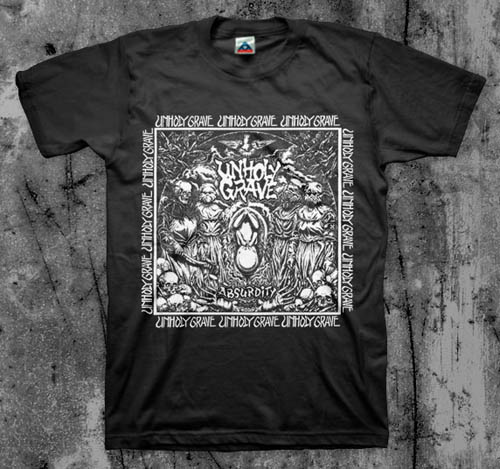 Unholy Grave- Absurdity on a black YOUTH sized shirt