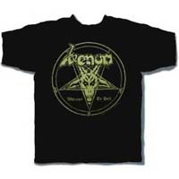 Venom- Welcome To Hell on front, Quote on back on a black shirt