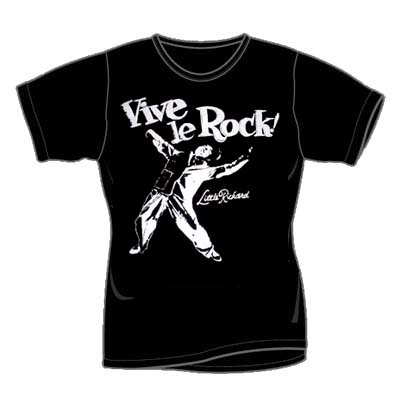 Seditionary- Vive Le Rock on a black girls fitted shirt ('77 design)