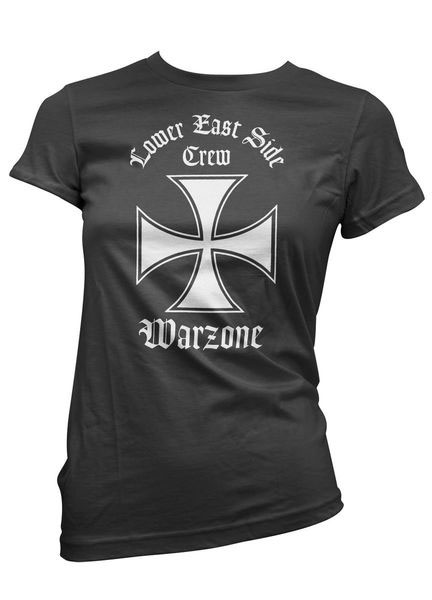 Warzone- Lower East Side on a black girls fitted shirt