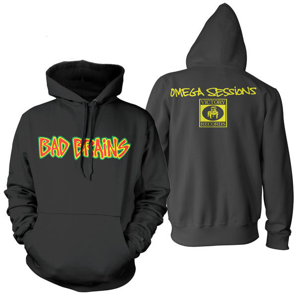 Bad Brains- Logo on a black hooded sweatshirt