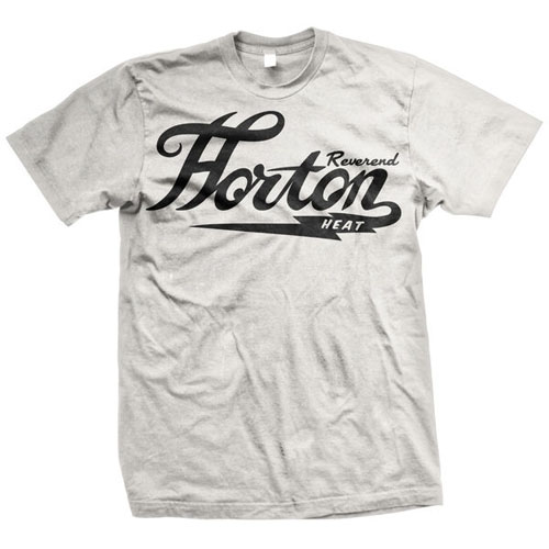 Reverend Horton Heat- Classic Logo on a white shirt
