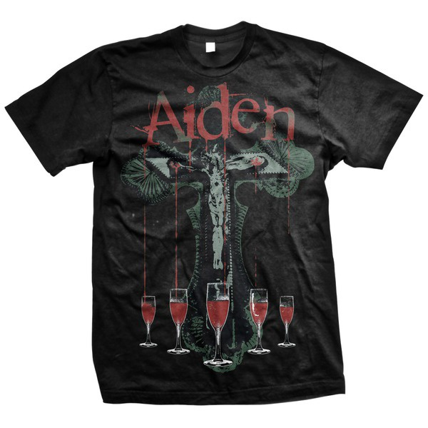 Aiden- Stigmata on a black shirt