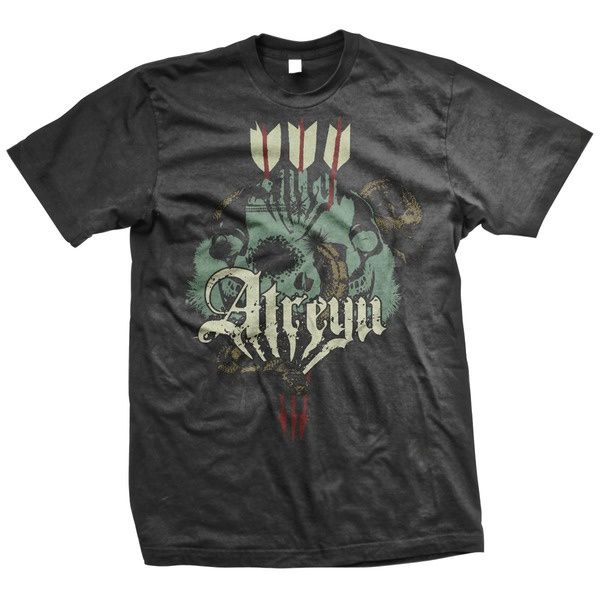 Atreyu- Skull Snake on a black shirt