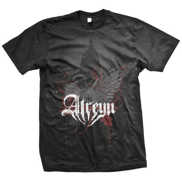 Atreyu- Rebirth on a black shirt