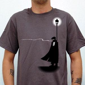 Streetlight Manifesto- Streetlight Guy on front, Logo on back on a grey shirt