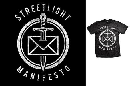 Streetlight Manifesto- Dead Letter Office on a black shirt