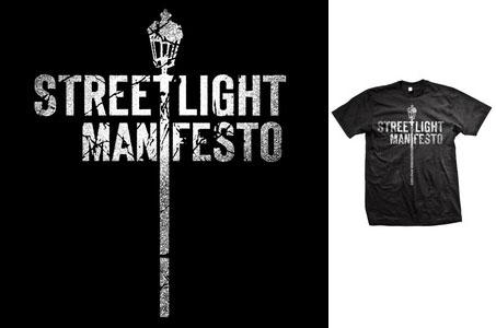 Streetlight Manifesto- Distressed Streetlight on a black shirt