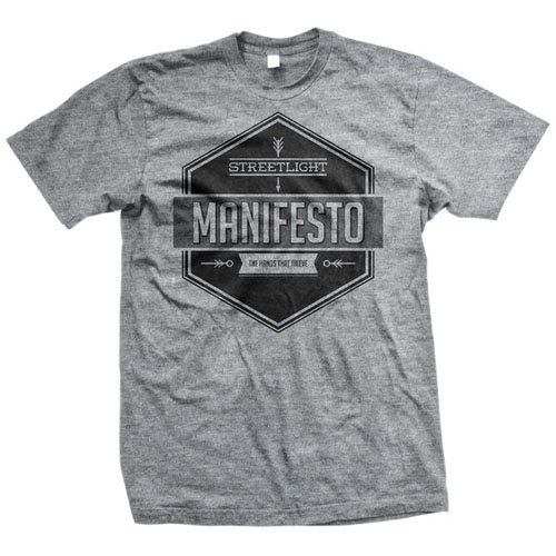 Streetlight Manifesto- Arrows on a grey shirt