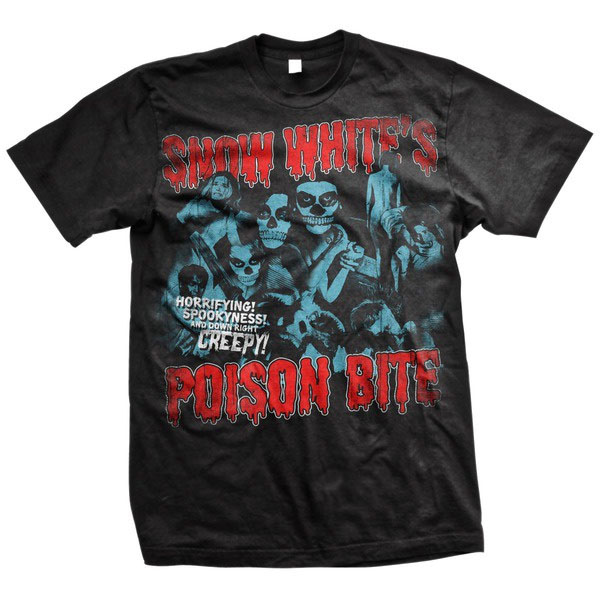 Snow White's Poison Bite- We Are Horror Crew on a black shirt (Sale price!)